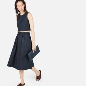 """Everlane """"Clean Cotton Pull-On"""" top and skirt"""